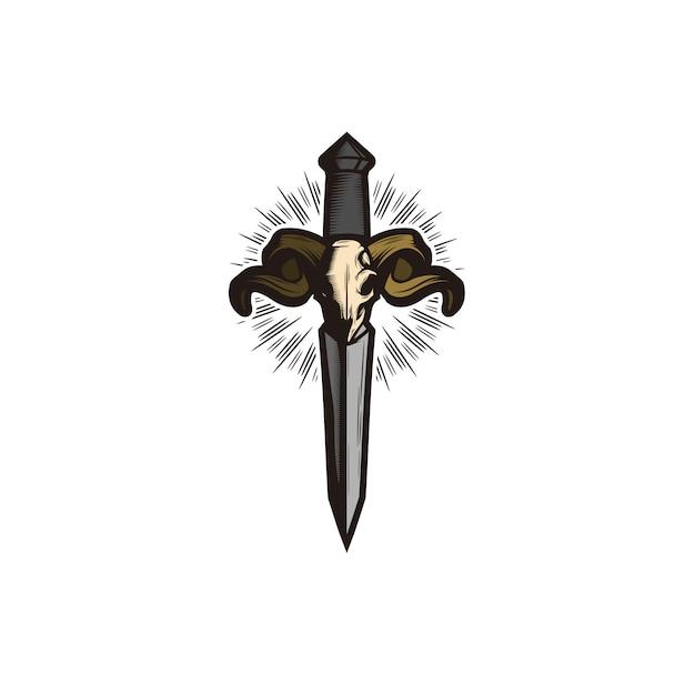 Sword logo Premium Vector