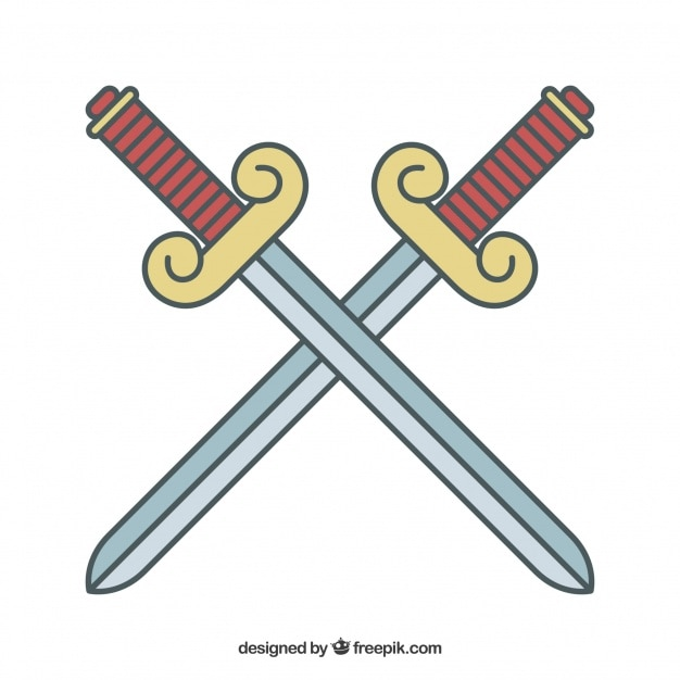 swords cross vector | free download
