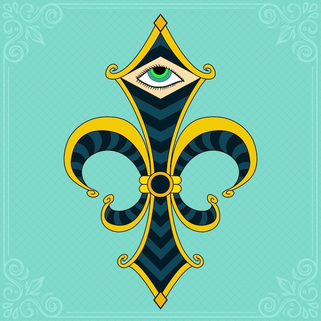 Symbol Fleur De Lis Vector Premium Download