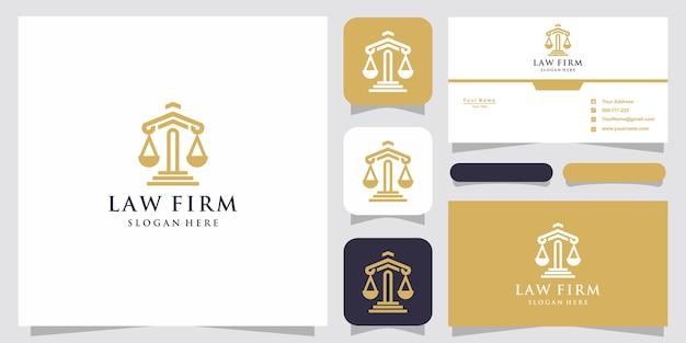 Символ адвокат адвокат адвокат шаблон линейный стиль логотипа компании и визитной карточки Premium векторы