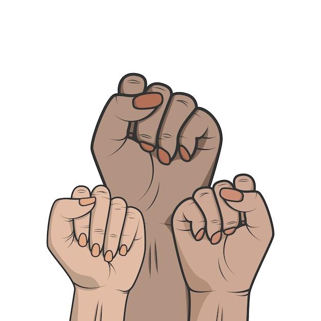 Symbol unity or sisterhood Premium Vector