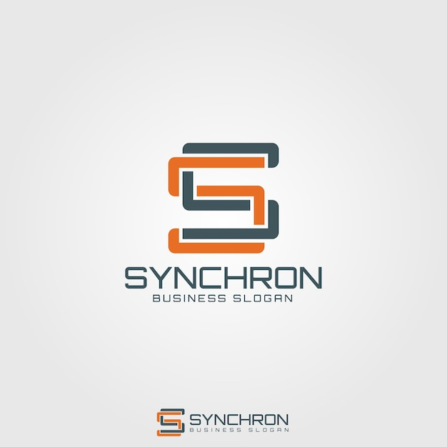 Synchron - monogram letter s logo Premium Vector