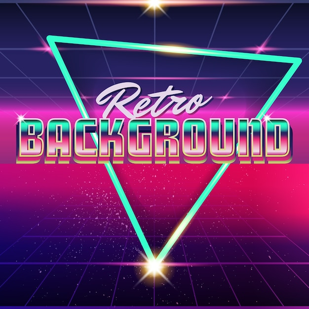 Synthwave retro design and elements Vector | Premium Download