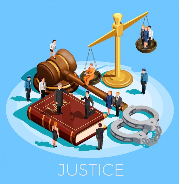 System of justice concept Free Vector