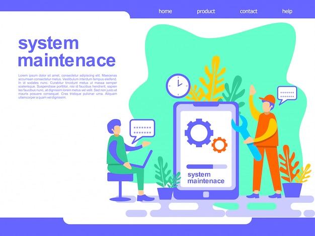 System maintenance landing page illustration Premium Vector