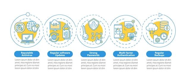 System management  infographic template Premium Vector