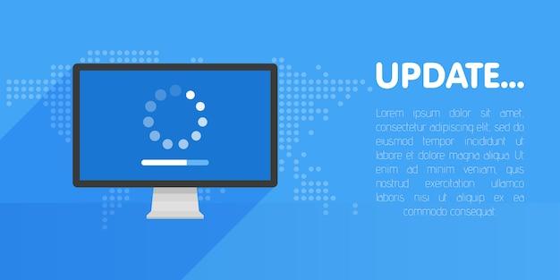 Обновление системного программного обеспечения и шаблон обновления Premium векторы