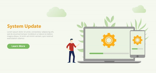 System update design Premium Vector