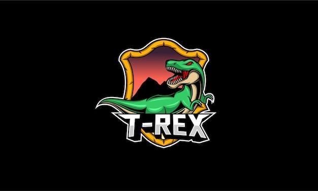 T rex mascot logo illustration Premium Vector