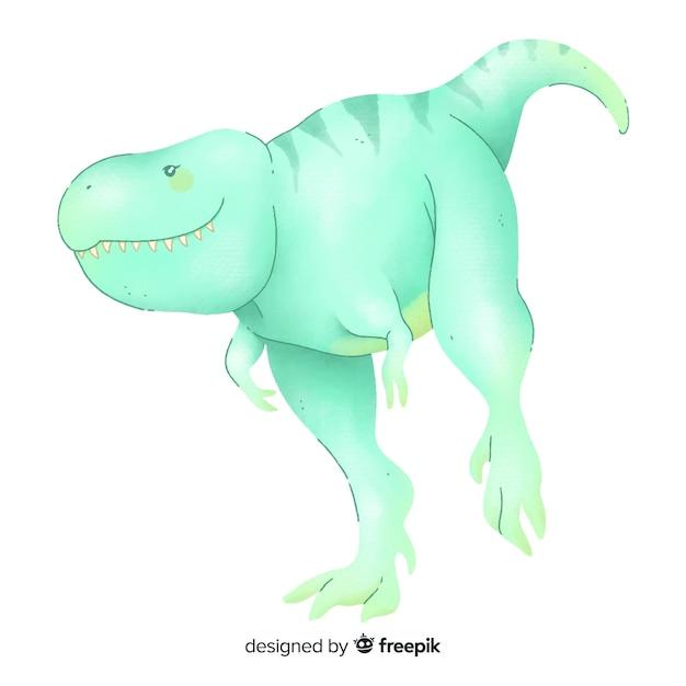 Акварельный фон t-rex Бесплатные векторы