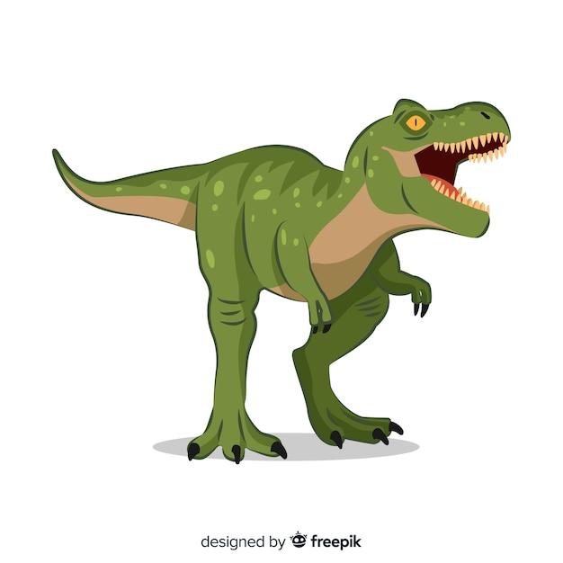 Плоский фон t-rex Бесплатные векторы