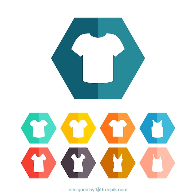 Connu T shirt icons Vector | Free Download XU52