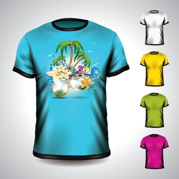 T shirt mock up design vector free download for T shirt design vector free download