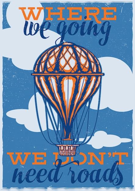 Arballoonのイラストを使用したtシャツまたはポスターのデザイン 無料ベクター