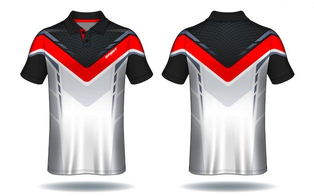 T-shirt polo design,sport jersey template. Premium Vector