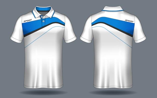 T-shirt polo design, sport jersey template. Premium Vector