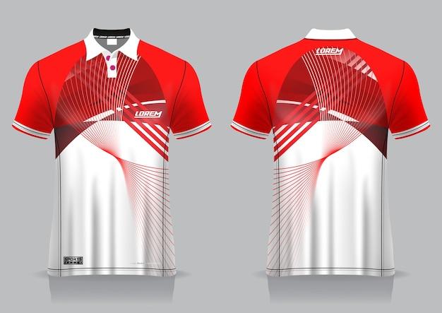 Download Premium Vector | T-shirt polo sport design, badminton ... Free Mockups