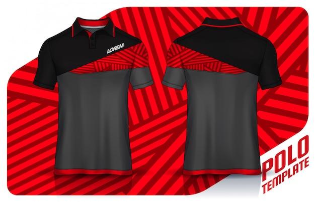 T-shirt polo templates design. uniform front and back view. Premium Vector