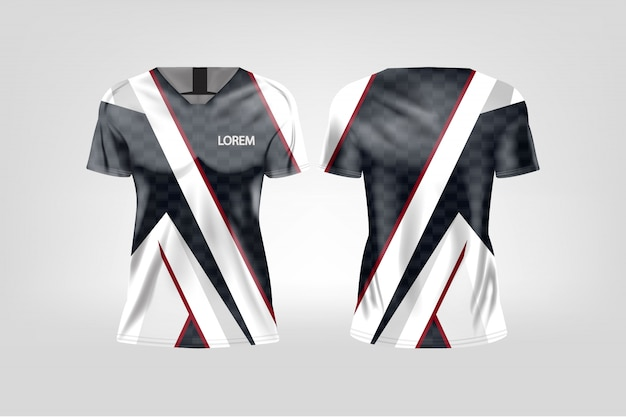 T-shirt sport for women, soccer jersey for football club. Premium Vector