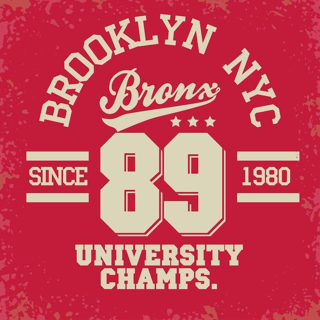 T-shirt stamp graphics, new york city sport wear typography emblem, tee print, athletic apparel . Premium Vector