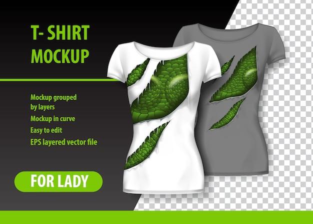 T-shirt template Premium Vector
