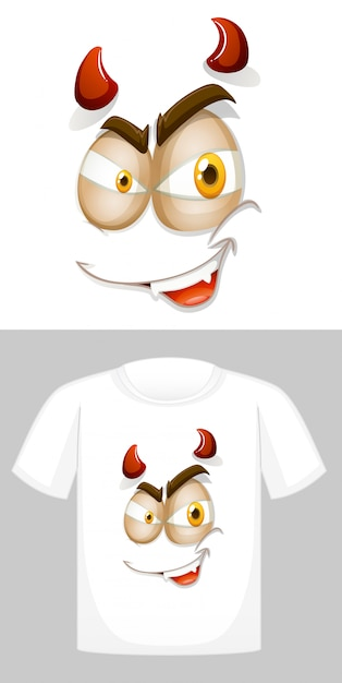 T-shirt with graphic in front Free Vector