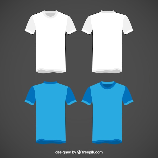 T shirts pack Free Vector