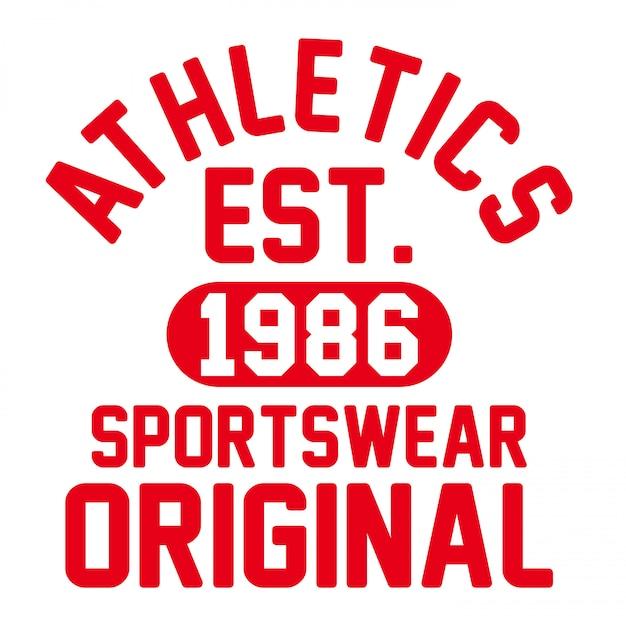 陸上競技tシャツベクトルグラフィックスポーツウェアsportstyle赤、白 Premiumベクター