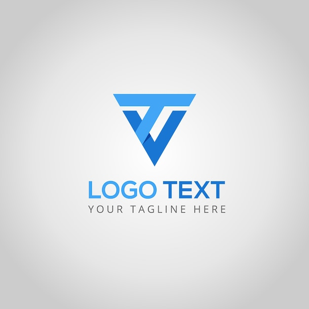 T and v logo template Premium Vector