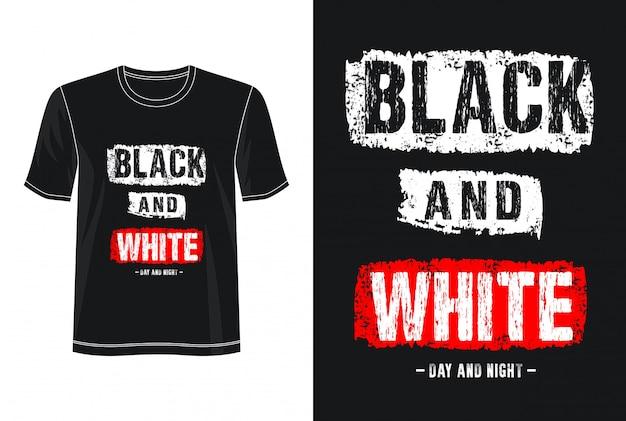 黒と白のタイポグラフィデザインtシャツ Premiumベクター