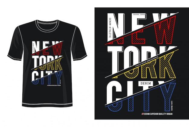 ニューヨーク市タイポグラフィデザインtシャツ Premiumベクター
