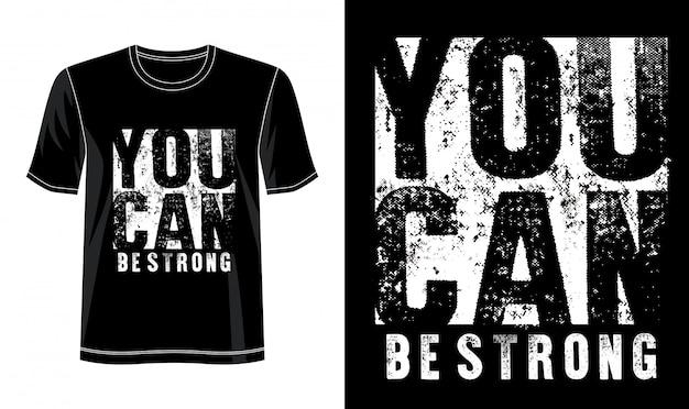 あなたはプリントtシャツの強力なタイポグラフィーになれます Premiumベクター
