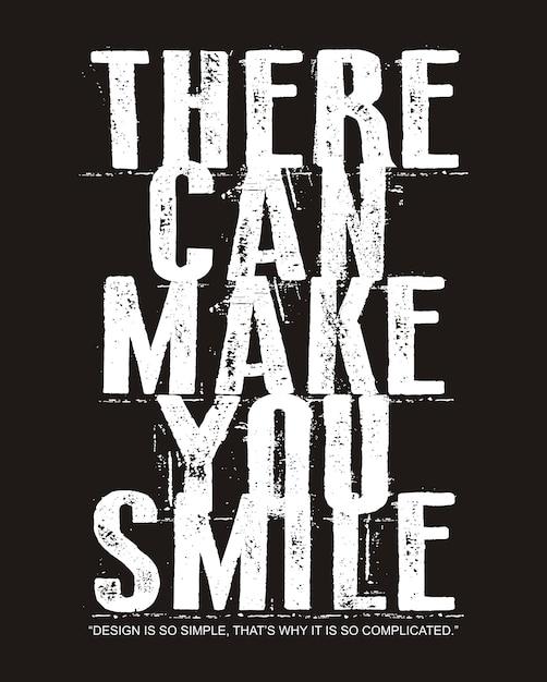 プリントtシャツの笑顔タイポグラフィ Premiumベクター