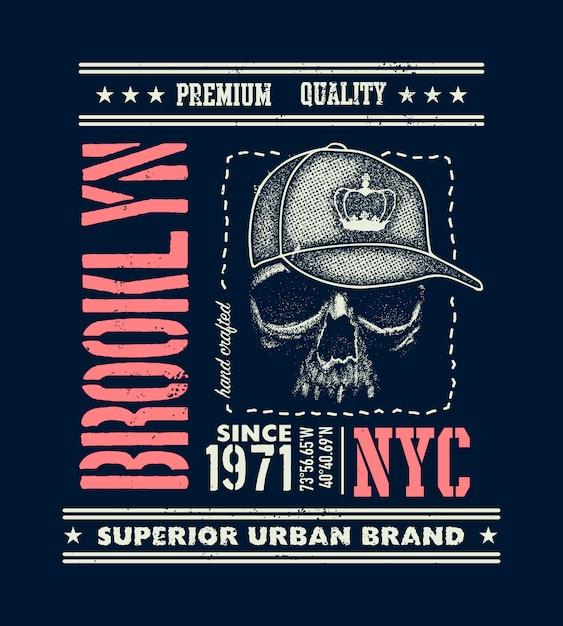 ビンテージの都市タイポグラフィ、tシャツのグラフィック Premiumベクター