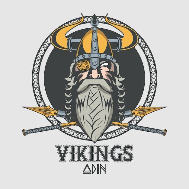 ヴァイキング戦士のプリントtシャツ 無料ベクター