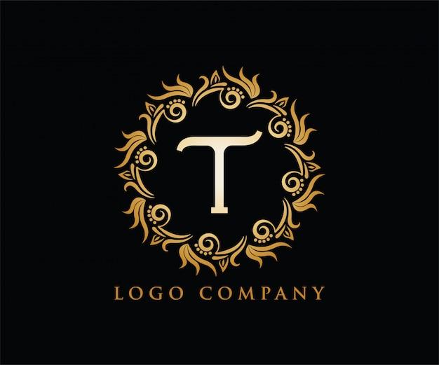手紙t初期ロゴ Premiumベクター