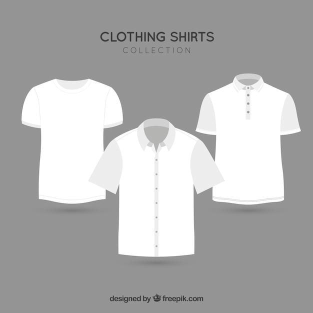 ファッション衣料品tシャツベクトルパック 無料ベクター