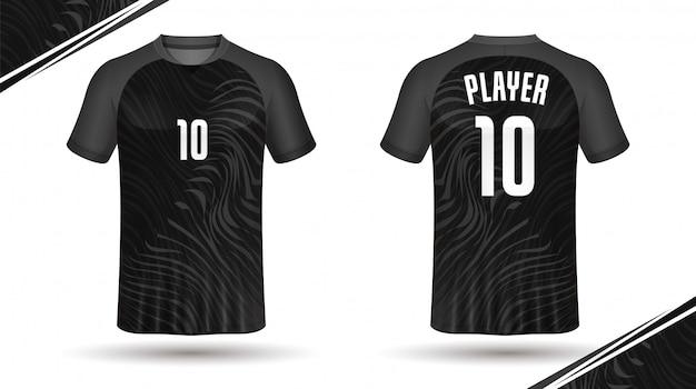 サッカージャージテンプレート - スポーツtシャツデザイン Premiumベクター