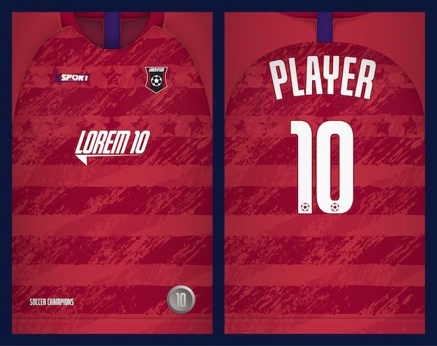 サッカージャージテンプレートスポーツtシャツデザイン Premiumベクター