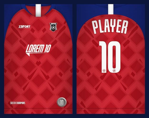 サッカージャージテンプレートスポーツtシャツ Premiumベクター