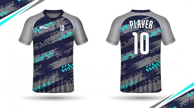 サッカージャージーテンプレートスポーツtシャツ Premiumベクター