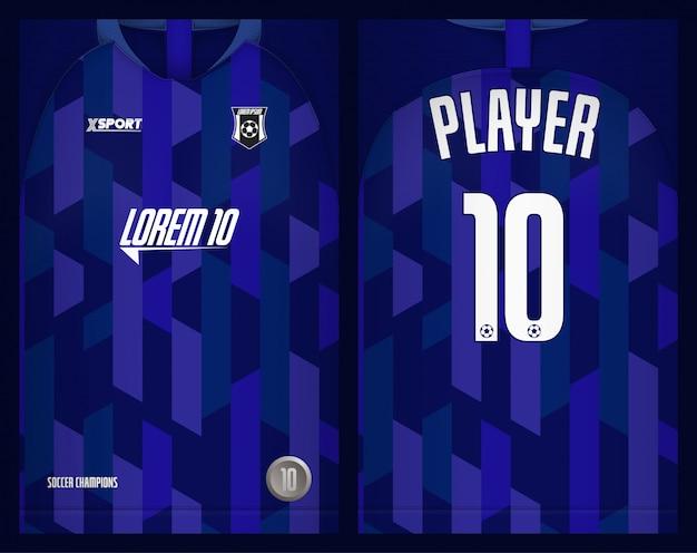 サッカージャージーテンプレートスポーツtシャツデザイン Premiumベクター