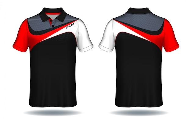 Tシャツのポロデザイン、スポーツジャージーのテンプレート。 Premiumベクター