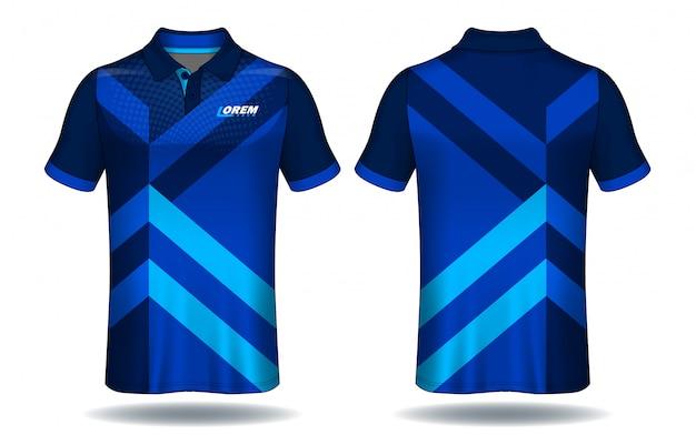 Tシャツのポロシャツ、スポーツジャージーのテンプレート。 Premiumベクター