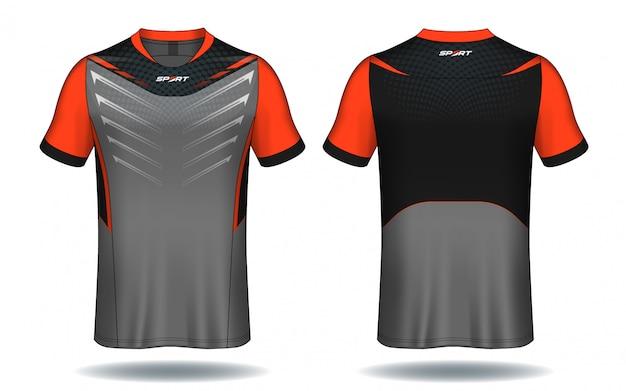 サッカージャージスポーツtシャツデザイン。 Premiumベクター