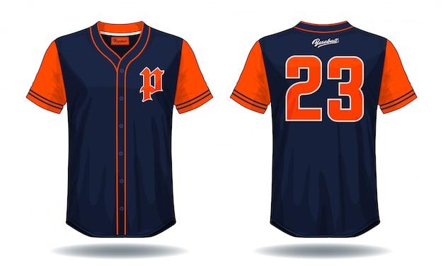 野球tシャツ。 Premiumベクター