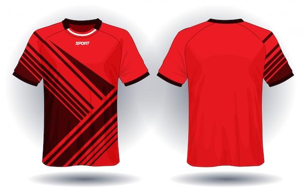 サッカージャージースポーツtシャツ Premiumベクター