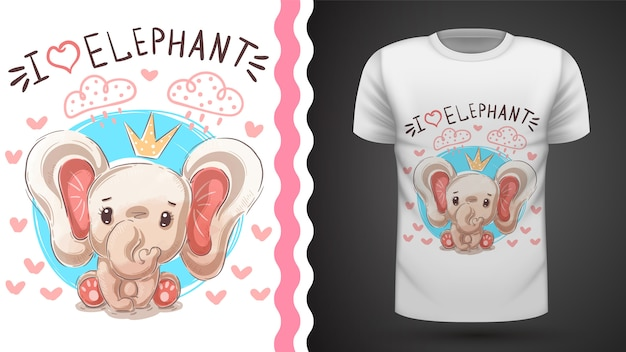 象姫tシャツ Premiumベクター