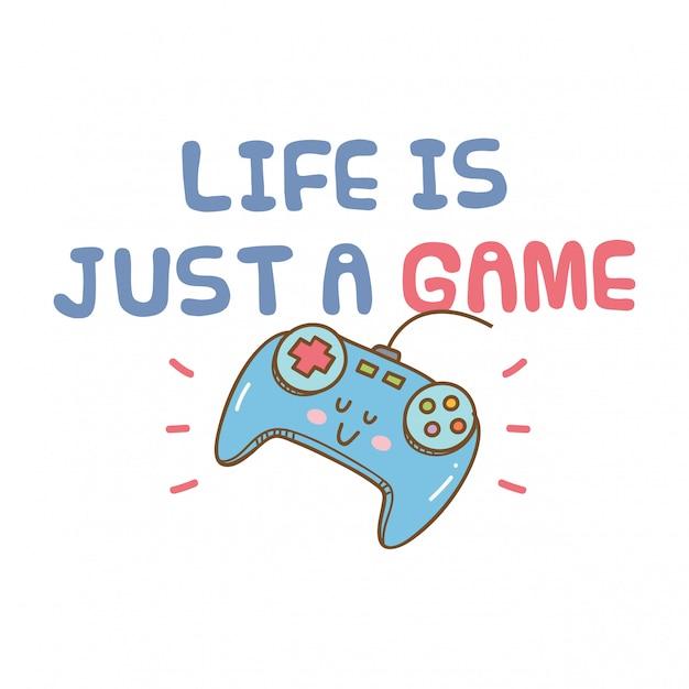 かわいいビデオゲームをテーマにしたtシャツ Premiumベクター