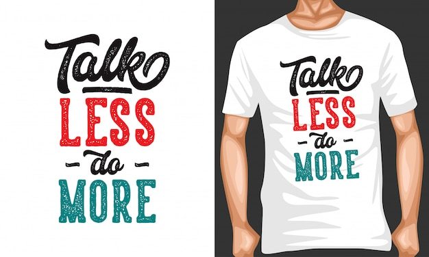 Tシャツデザインのレタリングタイポグラフィの引用をもっとする Premiumベクター
